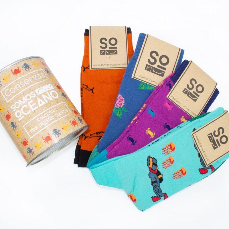 Lata 4 pares calcetines