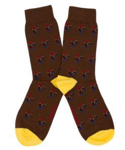 Calcetines Gallos marrón