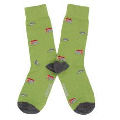Calcetines Hórreos y ratones verde
