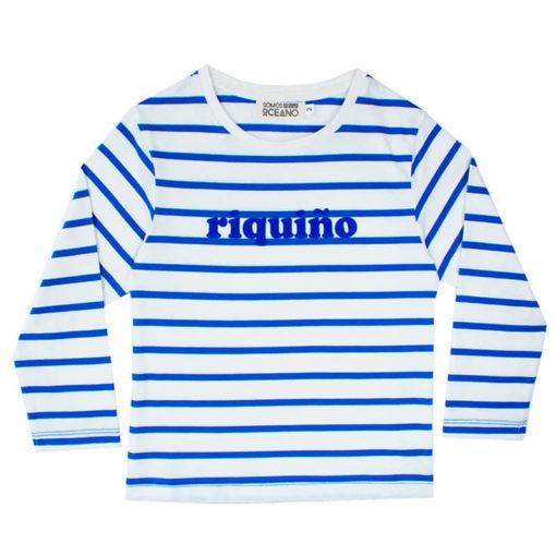 Camiseta Riquiño terciopelo azul niño
