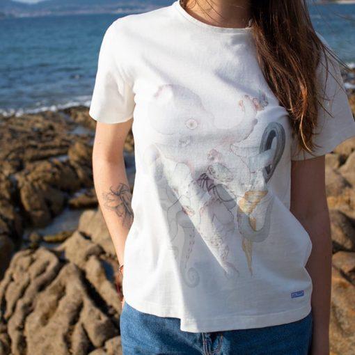 Camiseta Pulpo mujer SomosOcéano