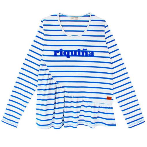 Camiseta Riquiña terciopelo azul SomosOcéano