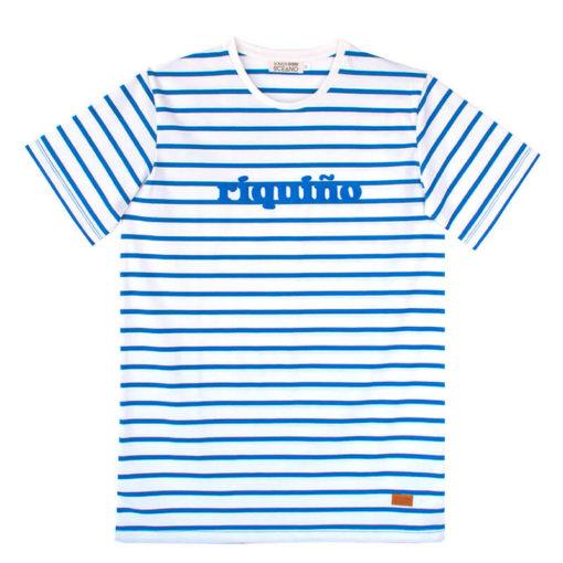 Camiseta Riquiño terciopelo azul