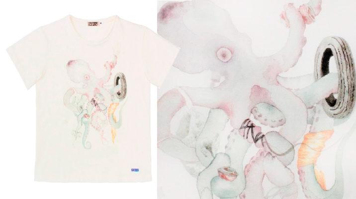Nuevas camisetas Pulpo de algodón orgánico