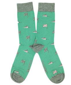 Calcetines Mantas verde menta SomosOcéano