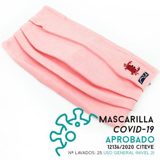 Mascarilla rosa adulto SomosOcéano