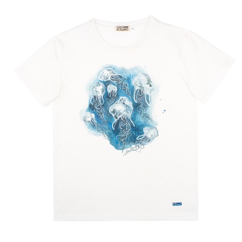 Camiseta Medusas mujer algodón orgánico
