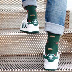 Calcetines Gaitas y panderetas verde