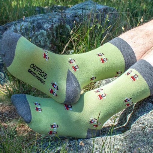 Calcetines Galegos verde