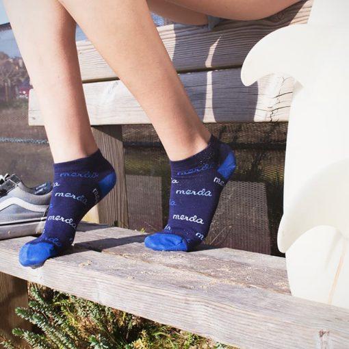 Calcetines tobilleros Merda azul