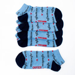 Pack calcetines tobilleros azules