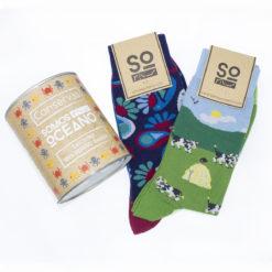 Lata 2 pares calcetines
