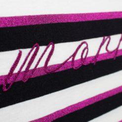 Camiseta Morriña negra y rosa